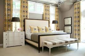 blue grey color scheme for traditional bedroom with bedroom bench