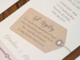 how to make a wedding registry wording for registry on wedding invitation yourweek ba3858eca25e