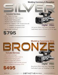 wedding videography prices wedding package pricing distinctive multi media
