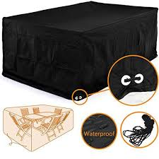 Rectangular Patio Table Cover 96 Inch Patio Table Cover Patio Furniture Conversation Sets
