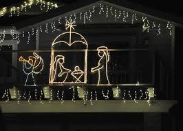 lighted nativity scene free stock photo public domain pictures