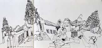 temples of angkor wat cambodia urban sketchers