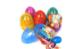 filled easter eggs 4 filled jumbo plastic easter eggs groupon