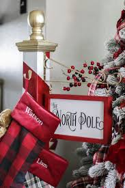 north pole christmas stocking holder navidad
