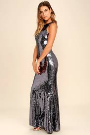 notorious pewter sequin maxi dress sequin maxi fitted bodice