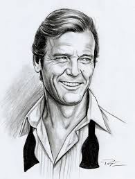 Roger Moore by Roger Moore Art By Patricio Carbajal James Bond Fan Art