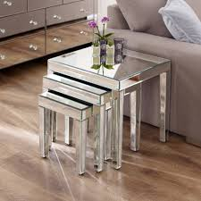 Coffee Table Nest by Mirrored Nest Of 3 Tables
