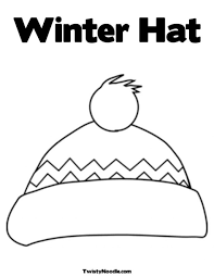 winter coloring pages hat and mittens 07 coloring page winter hat