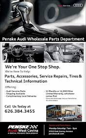 audi car parts wholesale audi car parts department at penske audi covina