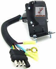 4 way flat light connector 7 way trailer plug ebay
