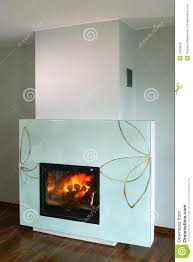fireplace with glass surround stock image image 4420643