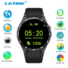 smart android letine kingwear kw88 android smart waterproof watches