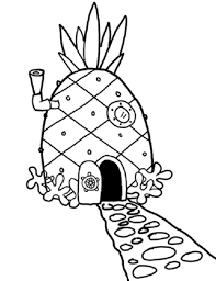 spongebob house coloring pages for kids c2b printable houses