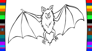 animal coloring pages how to draw a bat drawing and coloring