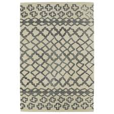 Bombay Home Decor Bombay Home Hand Tufted Utopia Prints Grey Wool Rug 9 U00276 X 13 U00276