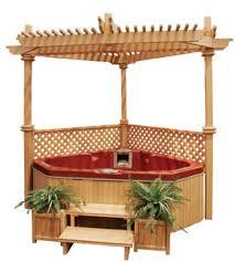 corner tub and gazebo love it tub dreams pinterest