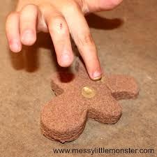 fingerprint gingerbread ornament cinnamon salt dough