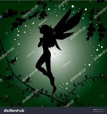 Beautiful Fairies by Green Wallpaper That Design Beautiful Fairy Stock Vector 64539301