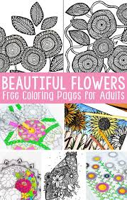 free printable flower coloring pages adults easy peasy fun