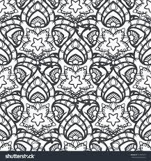 patch boho flower seamless pattern mandala stock vector 517005673