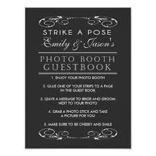 photo booth sign wedding photo booth guest book sign zazzle