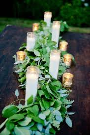 inexpensive centerpieces garden wedding in oregon at duckridge farm greenery wedding and