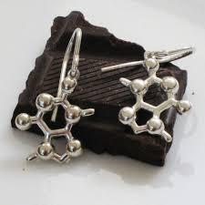 my chemical earrings made with molecules molecule earrings
