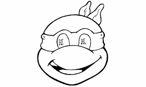 ninja turtle face coloring free download