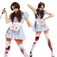 horror ladies dorothy costume cosplay carnival christmas party