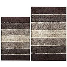 Brown Bathroom Rugs Chardin Home 100 Cotton 2 Cordural