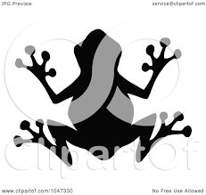 royalty free rf clip art illustration of a black frog silhouette