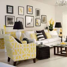 monochrome and yellow living room traditional living room ideas