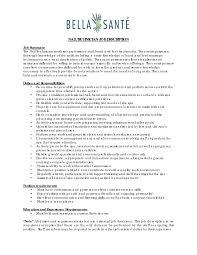 Auto Mechanic Resume Examples by Best Photos Of Technician Job Description Template Computer