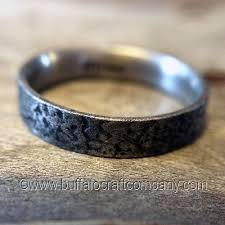 rustic mens wedding bands men s wedding bands buffalo craft company llc