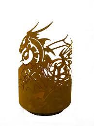 drachentopf edelrost feuerschale mit drachenmotiv jpg