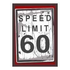 60 birthday celebration 60th birthday party grungy speed limit sign card speed limit
