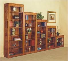 mission style bookcase with doors home design ideas