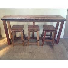 Breakfast Bar Table And Stools Reclaimed Barn Wood Breakfast Bar