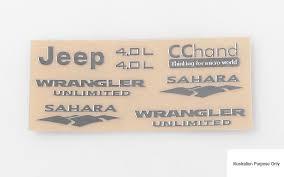 jeep wrangler sahara logo metal emblems decal logo badge for axial scx10 jeep wrangler vvv