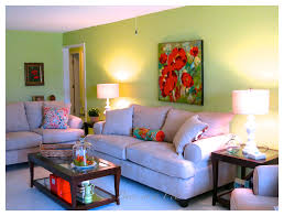 Bright Colored Paint For Living Room Green And Orange A Living Room Makeover 2 Bees In A Pod