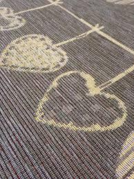 tappeti stile shabby tappeto cucina 53 x 300 shabby chic grigio cuori cuori country
