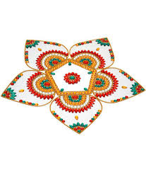 creative home decor modak shape pvc rangoli 6 piece buy