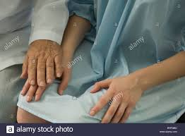 Doctor Comforting Patient Doctor Comforting Patient Close Up Stock Photo Royalty Free