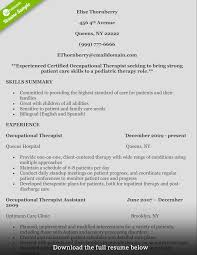 Examples Of Teamwork Skills For A Resume by How To Write A Perfect Occupational Therapist Resume