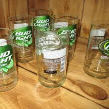 how much is a six pack of bud light upcycled bud light lime six pack of glasses made from bottles