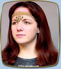 chain headband amira dancer band handmade metal chainmaille jewelry or