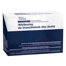 crest supreme whitening strips bandes blanchissantes