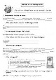 Global Warming Worksheet Teaching Worksheets Climate Change