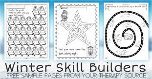 theme line winter fine motor and executive function skills with a winter theme your