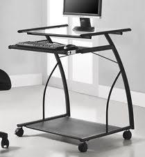 Rolling Table Desk Rolling Shelf Table Cart Desk Stand Mobile Office Laptop Computer
